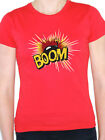 BOOM - Explosion / Bomb / Fire / Fireworks / Novelty Themed Women's T-Shirt