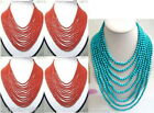 12Strings Wholesale Charming Tibet Small Coral And Turquoise 4mm Beads Necklaces