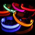 Pets Puppy Dogs LED Collar Light-up Flash Night Safety Nylon SMLXL Adjustable