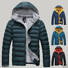 Men's Casual Hooded Warm Thicken Parka Stylish Slim Coats Down Jackets Outwear
