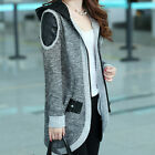2013 New Fashion Womens Long Sleeve Hooded Cardigan Sweater Zip Up Mid-Long Coat