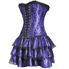 Hot Sexy Elegant Burlesque Party Costume corset Bustier Tops Mini skirt G-string