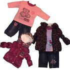 Baby Girl WARM 3 Pieces Outfit/ Set - Padded Jacket , Trousers/Jogging Pants&Top
