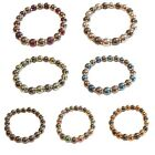 Colourful Two-Tone Magnetic Hematite Healing Stretch Bracelet Arthritis Headache