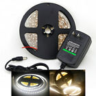 5M Non-Waterproof 3528 SMD 600LED Strip Light Cool Warm White 12V2A Power Supply