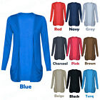 New Ladies Boyfriend Open Cardigan Drop Pockets UK Size 8 -18 Casual Women Top