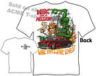 Rat Fink T Shirt Merc On A Mission 49 50 51 Mercury Big Daddy Tee M L XL 2XL 3XL