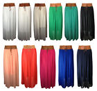 NEW WOMENS LADIES SHEER CHIFFON PLEATED BELTED GYPSY MAXI DRESS SKIRT - ONESIZE