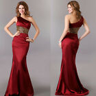 hot One Shoulder Formal Party Gown Evening Dress Bridesmaid Cocktail Full-length