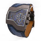 OULM Fashion Military Army Two Time Zones Movements Watch Leather Sports Watch
