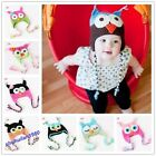 New Baby's Cute Caps Boy/Girl/Toddler Owls Knit Crochet Hat Beanie Caps 9 colors