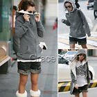 Women's Fleece Jacket Hooded Jacket Thickened Jacket ZIP Coat Winter Outer Wear