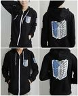 Anime Attack On Titan Survey Legion Black Thin Hooded Sweatshirt Cosplay Hoodie
