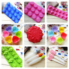 9 Styles Silicone Mould Chocolate Cake Ice Soap Mold Brush Pen Baking tools