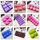 9 Styles Silicone Mould Ice Chocolate Soap Cake Jelly Bread Mold Baking Tool