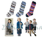 3 pairs Toddlers Kids boys Stripe Cotton Knee High Socks Hose Stockings For 2-7Y