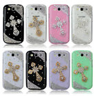 New Stylish Cross Diamond Bling Skin Back Case Cover For Samsung Galaxy S3 I9300