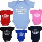 Baby Infants Clothes Inside Bodysuit Vest Funny Slogan Shower Gifts Boys Girls