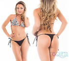 Coqueta BRAZILIAN  MICRO BIKINI thong bottom swimwear &/or TOP separates BLACK