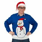 Blue Snowman Jumper  Adult Costume Festive Christmas Jumper