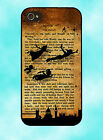 Disney Peter Pan Tinkerbell Book Case Cover Mobile Quotes Phone iPhone 4   4S  5