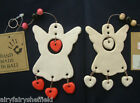 ANGEL hanging mobile xmas with heart detail and 3 dangling beads (WH-mcmdr07)