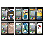 Wo Slim Front Back Clear Cartoon Screen Protector Film Cover For Iphone 4 4S (N)