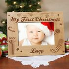 Personalized My First Christmas Picture Frame Baby's 1st Christmas Photo Frame