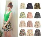 Women's Casual Chiffon Cotton Girls Cute Mini Dress Tutu Pleated Short Skirts