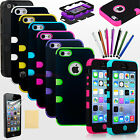 Shockproof Tuff Case For Apple iPhone 5 5g Hybrid Hard Cover Dirt Dust Proof