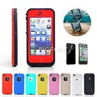 For Apple iPhone 5 5s Waterproof Shockproof Hard Cover Case With Film Protector