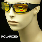 Polarized hd high definition sunglasses night drive vision yellow lens glasses a