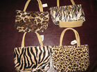 Adorable Wild Animal Print Mini Purse Faux Fur Furry