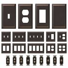 Oil Rubbed Bronze Wall Switch Plate Outlet Cover Rocker Duplex Toggle Metal