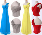Long Party Pageant One Shoulder Bridesmaid Ball Gown Chiffon Evening Prom Dress