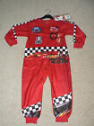 BOYS FLEECE DISNEY CARS RED ALL IN ONE PYJAMAS SLEEPSUIT ONESIE  2 3 4 5  BNWT
