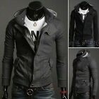 UK Handsome Men's Stylish Slim Fit Hooded Coats Hoodies Jackets Casual Outwear