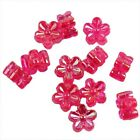450/2250pcs New Charms Acrylic Spacer Beads Plated AB Clear Solid Flower 7x7x4mm