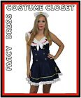 Vintage Sailor Fancy Dress Costume Rockabilly Pin Up Outfit 50s Retro Halloween