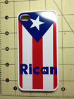 Rican Peace Rubber Puerto Rico Flag Cell Phone Iphone 4 & 4 S & 5,5S & 6 case