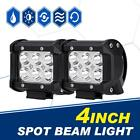 "2x 18W 4"" Cree LED Work Light Bar Spot Beam Offroad 4WD ATV SUV Fog Driving Lamp"