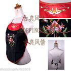 Chinese  vest Embroidery top bellyband corselet 081406 black and red in stock