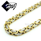 """18-40""""MEN Stainless Steel 4/6/9mm Silver/Gold/Black Byzantine Box Chain Necklace"""
