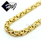 "18-40""MEN Stainless Steel 4/6/9mm Silver/Gold/Black Byzantine Box Chain Necklace"