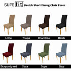 8 COLORS Choice - Machine Washable SUREFIT Stretchable Dining Chair Cover