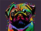 Pug Dog Pop Art Print Poster - s127