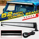 500W PHILIPS 52INCH LED WORK LIGHT BAR COMBO SPOT FLOOD DRIVING OFFROAD BAR 4WD