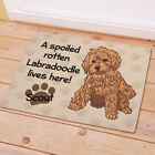 Personalized Labradoodle Doormat Spoiled Rotten Dog Lives Here Dog Name Doormat