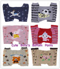 3 Sizes Infants Baby Toddler Leggings Tights Bottom Pants Cartoon Trousers Socks