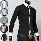 NEW Sale PJ Men's Luxury Casual Slim Fit Stylish Dress Shirt 5 Colors 4 Size